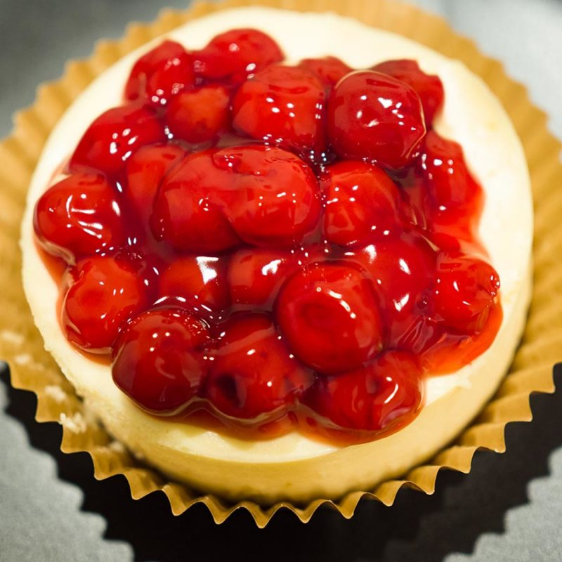Cherry Topped Mini Cheesecake