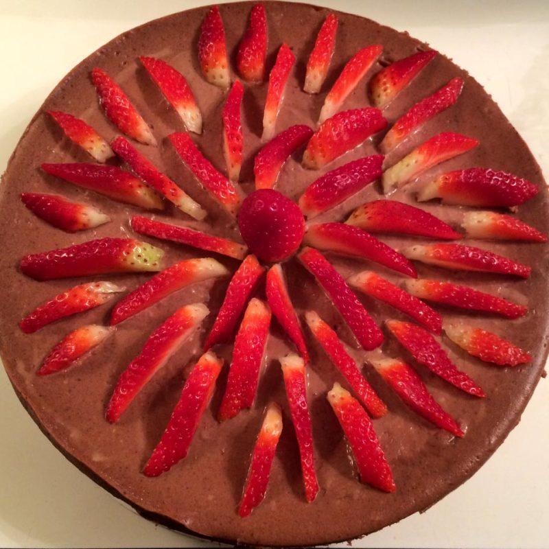 Chocolate Strawberry Cheesecake